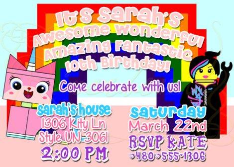 girls lego movie birthday party
