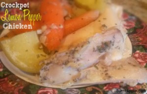 Crockpot Lemon Pepper Chicken