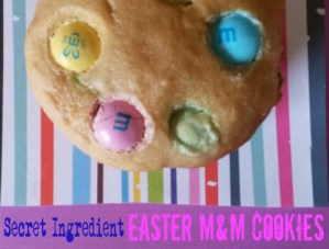 Secret Ingredient Easter M&M Cookies