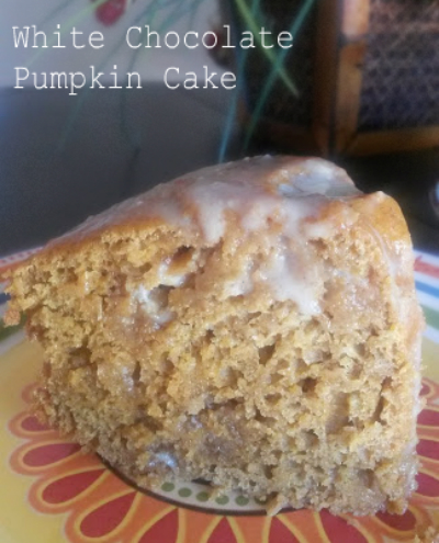 white chocolate pumpkin cake