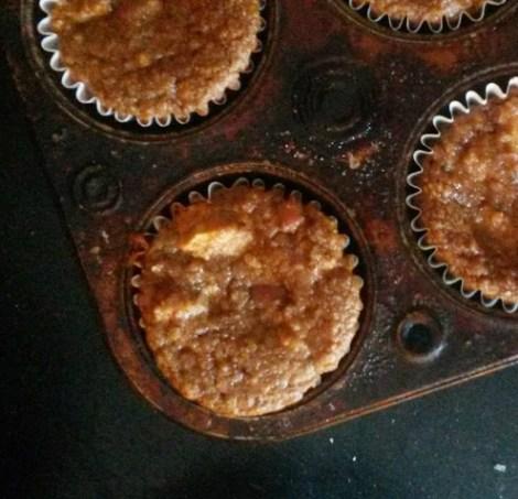 high protein apple cinnamon muffins