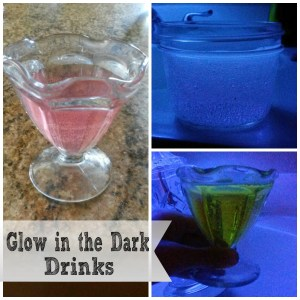 Glow in the Dark Halloween Drinks