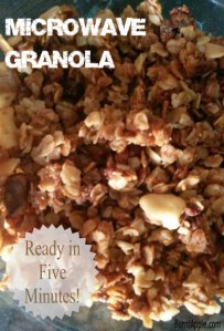Pumpkin Spice Microwave Granola