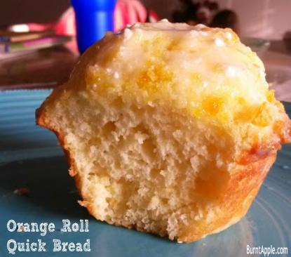 orange roll quick bread