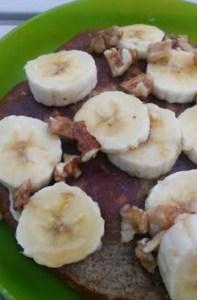 Banana Pecan Protein Pancakes