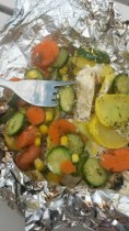 mediterranean herb chicken tin foil dinner