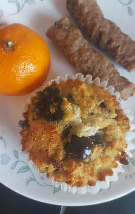 high protein blueberry muffins