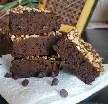 naturally sweetened brownie