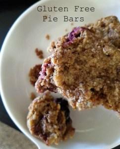 Gluten Free Pie Bars