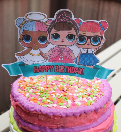 Easy Lol Surprise Doll Birthday Cake Superbowl Recap Burnt Apple