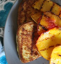 Grilled French Toast and Peaches + Running Injury AGAIN!