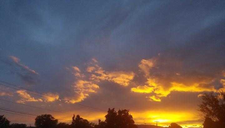 cemetary sunset