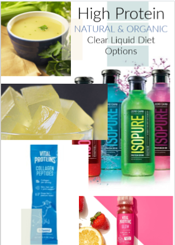 Natural and Organic High Protein Clear Liquid Diet Options