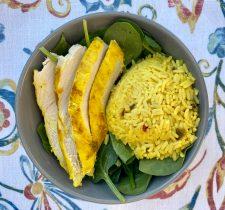 saffron chicken and rice