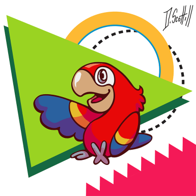 """Parrot Pal"" Prints and more available on Society 6! Link in decsription!"