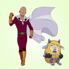 Prompt: Anime (One Punch Man)