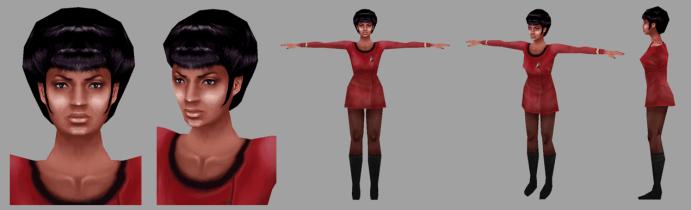 Uhura model turn-around