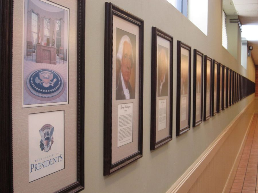 Portraits of the Presidents at Highland Park Cafeteria