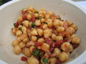 Chickpeas with reverse vinaigrette