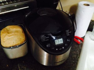bread machine and bread