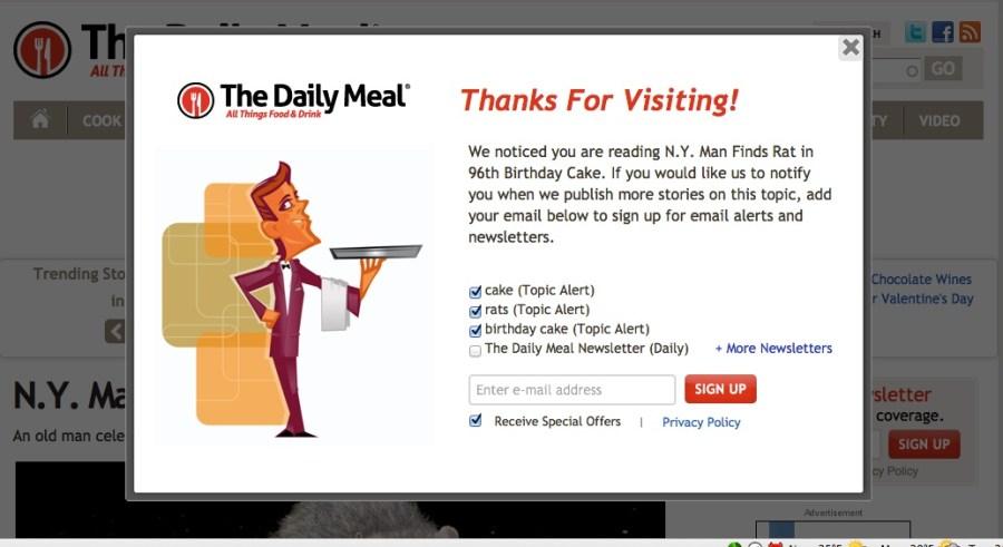 Rat in Cake Alert