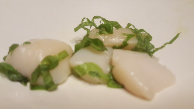 Scallop Crudo with Shiso