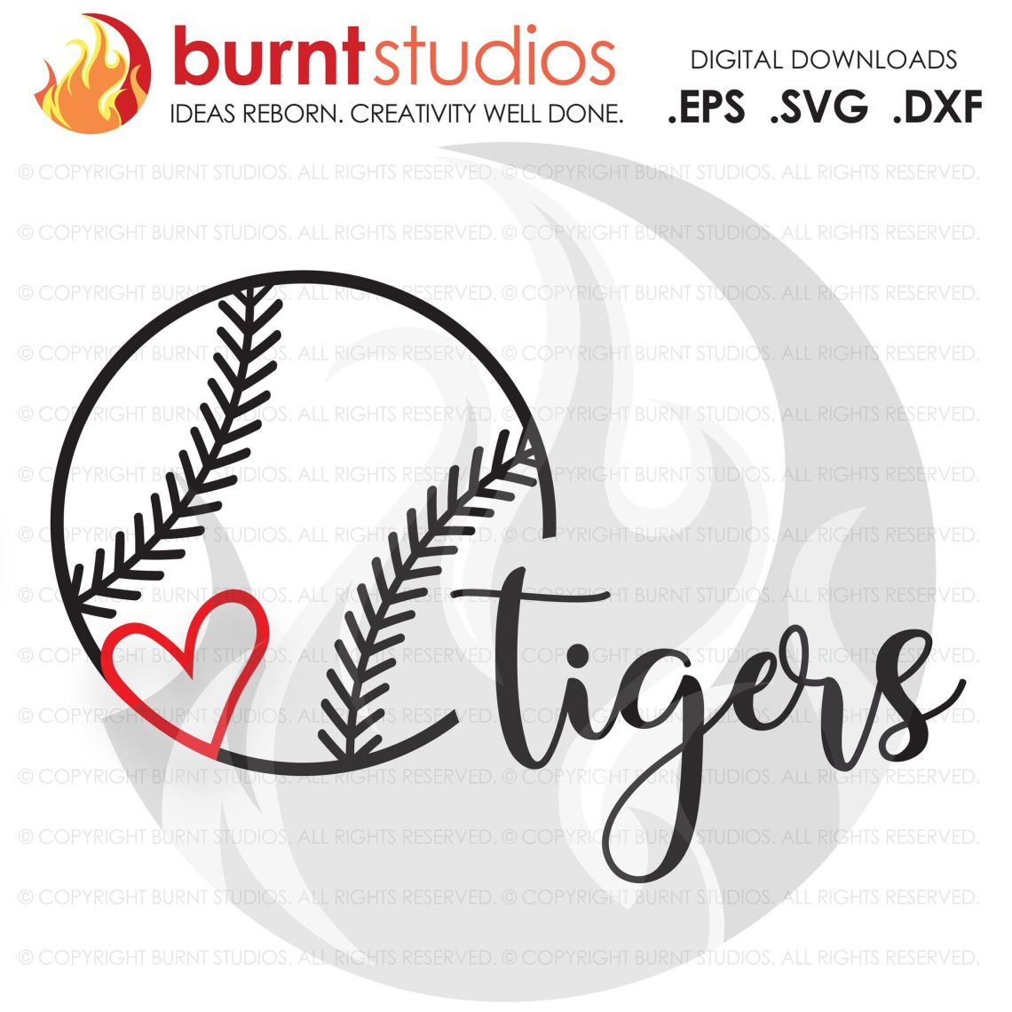 Download SVG Cutting File, Baseball Love Heart with Team Name ...