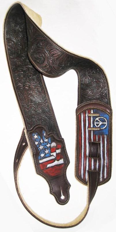 BurnWizard American Peace Guitar Strap