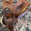 fly flishing custom guitar strap leather burnwizard 2021