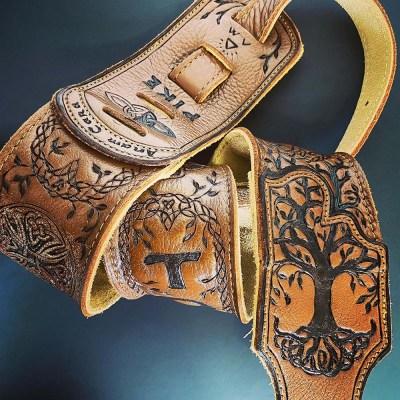 burnwizard-celtic-tree-of-life-cross-braid-custom-guitar-strap
