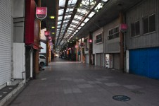 Empty shopping arcade