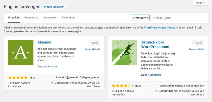 Hoe installeer je een WordPress plugin