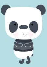 poster panda klein