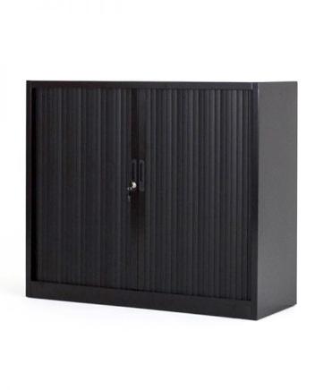 armoire basse metallique noir
