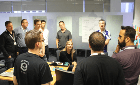 People at the Daily Scrum