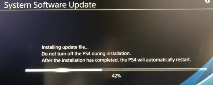 ps4 update from usb storage device