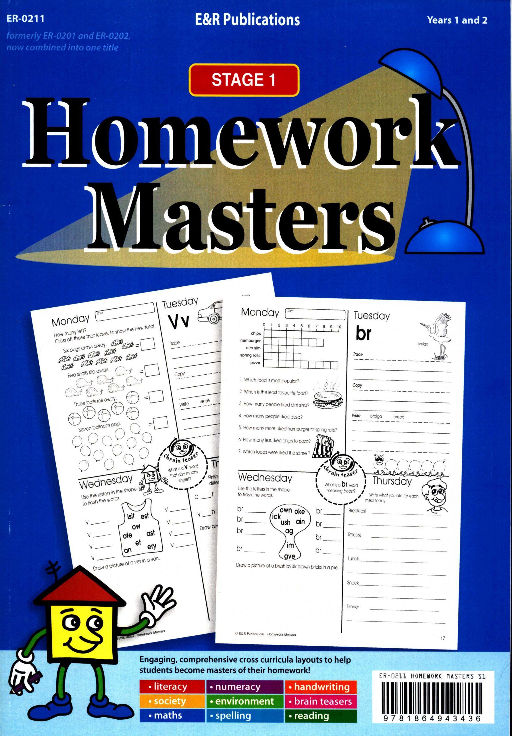 Homework Masters Stage 1 Years 1 2