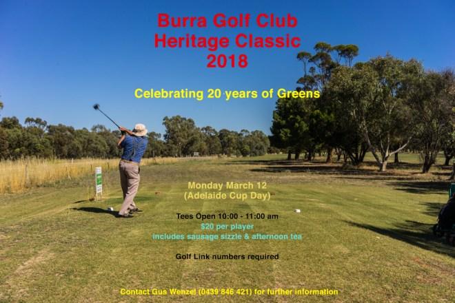 Burra Golf Club Heritage Classic 2018
