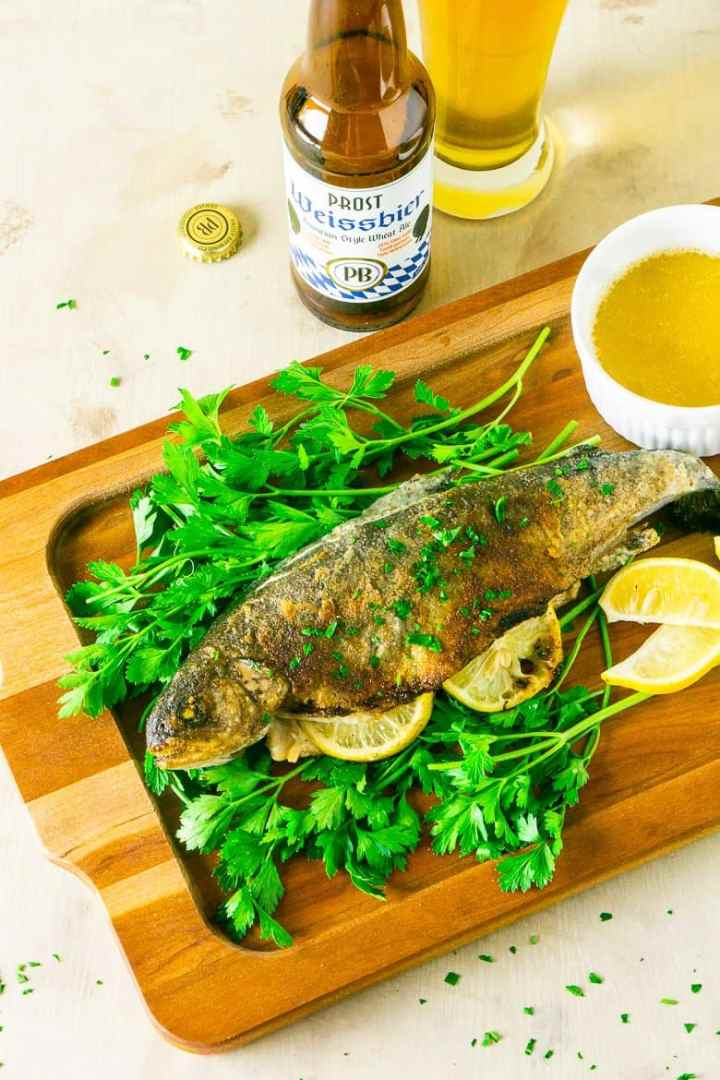 pan-fried trout