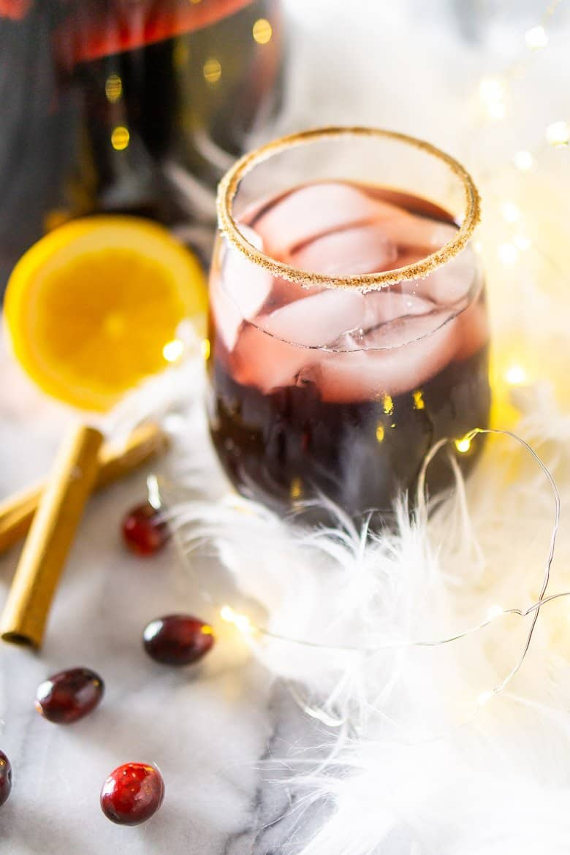 Cranberry-Apple Cider Holiday Sangria