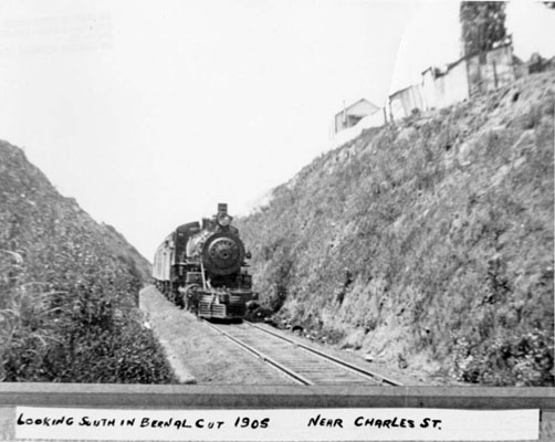 1905 Bernal Cut Charles St Looking South AAB-8697