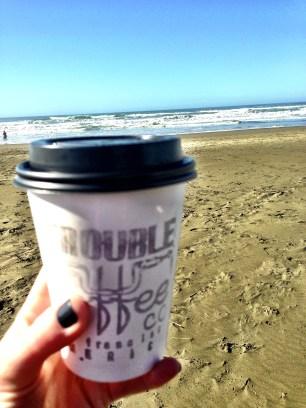 Coffee at the beach.