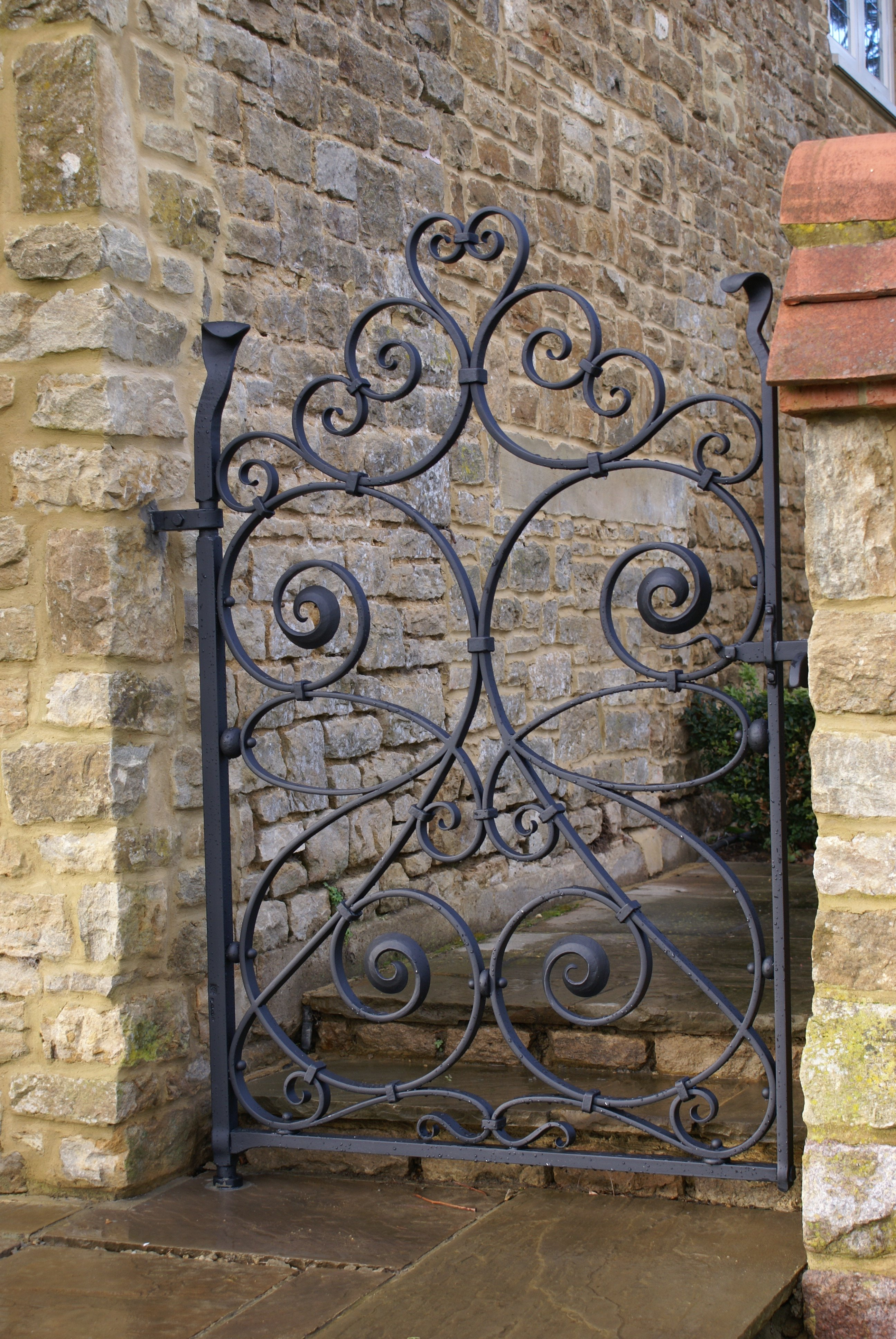 Wrought Iron Gate - Burrows Lea Forge - Hand Forged Ironwork on Iron Get Design  id=85945