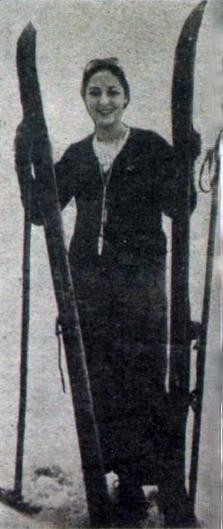 Keriman hanım kayaklarıyla