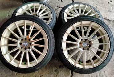 velg second CPW Ring 17 pcd 8×100/114 + ban 205/45