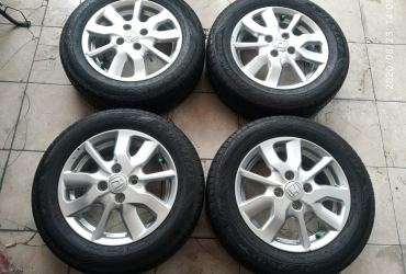 velg oem new brio e satya ring 14 pcd 4×100 plus ban