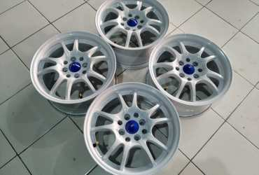 Velg racing mugen ring 15 lebar 7 et 35 pcd 8×100/114, 3