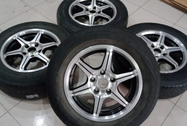 VELG RACING MURAH TYPE MS310 RING15X6,5 H5X114,3 ET20 BLACK POLISH BAN HANYA PEMANIS YAH