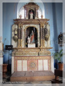 an antique side altar and new paint