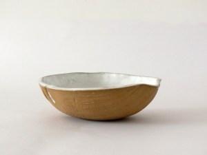 miska biała drewno 1